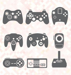 Video Game Controller Silhouettes vector image vector image
