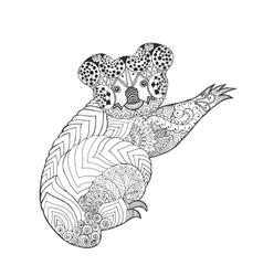 Zentangle stylized koala vector image