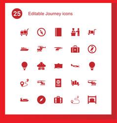 25 journey icons vector
