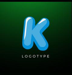 3d playful letter k kids and joy style symbol vector image