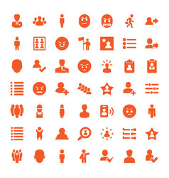 49 user icons vector image