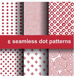 6 dot patterns vector image