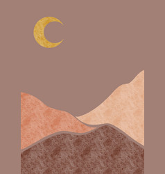 abstract background landscapes with night boho vector image
