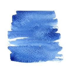 Abstract blue aqua brush stroke square shape vector