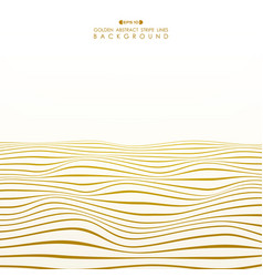 abstract golden stripe line wavy ocean pattern vector image