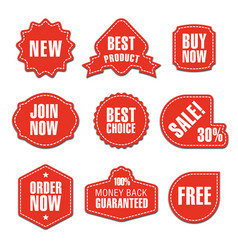 advertising colorful stickers vector image