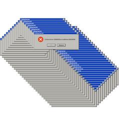 Alert dialog windows system failure dialog box vector
