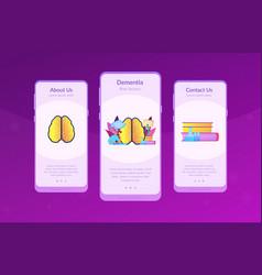 Alzheimer disease app interface template vector