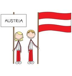 Austrian flag vector image