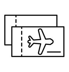Aviation tickets thin line icon avia tickets vector