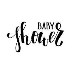 Baby shower hand drawn calligraphy and brush pen vector