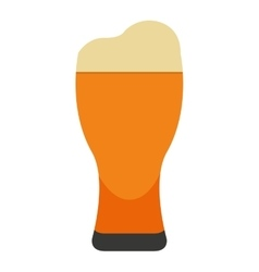 beer glass isolated icon design vector image