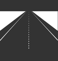 black road vector image