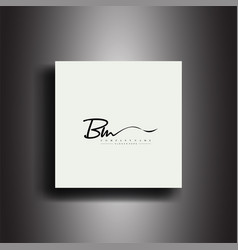 Bm signature style monogramcalligraphic lettering vector