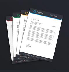 business letterhead template vector image