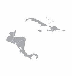 Central america gray map vector