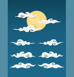 Chinese cloud isolated vector