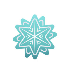 christmas card decorated by blue snowflake vector image