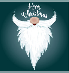 christmas card with santa beard vector image