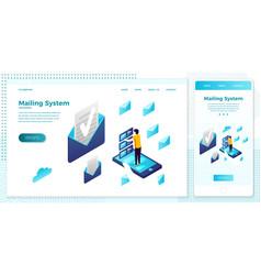 Cross platform mailing service vector