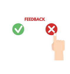 Customer review positive and negative feedback vector
