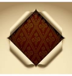 Cut paper vector