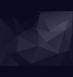 dark gray polygonal texture background vector image