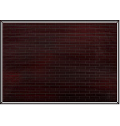 dark red brick wall vector image