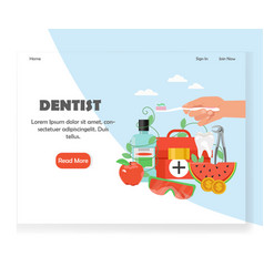 dentist website landing page design vector image