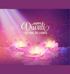 diwali greeting background 3d festival vector image