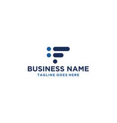 f financial logo design inspiration vector image