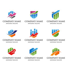 financial market logo vector image