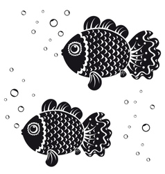 Fish black vector