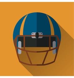 Football helm icon vector