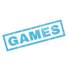 Games Rubber Stamp vector