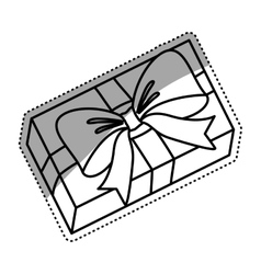 Gift box isolated vector image