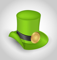 Green hat with buckle in saint Patrick Day vector