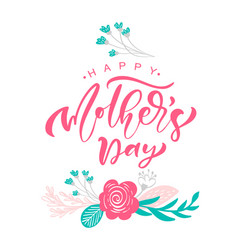 greeting card happy mothers day lettering vector image