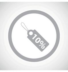 Grey discount sign icon vector image