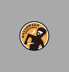 Halloween kids costumes design vector