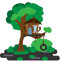 house on a tree vector image