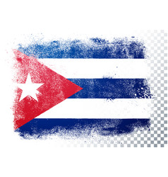 isolated flag cuba in grunge texture style vector image