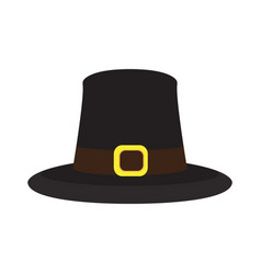 Isolated pilgrim hat vector