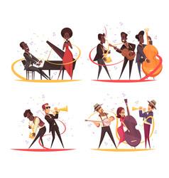 Jazz musicians design concept vector