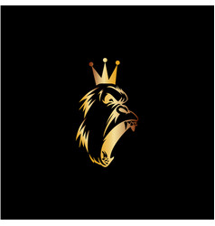 king gorilla icon logo vector image