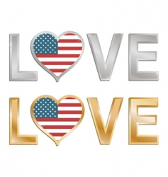 Love the USA sign vector