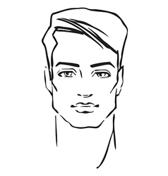 Man face fashion model vector image