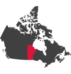 Map of canada - manitoba vector