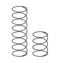 Mattress spring on white background vector