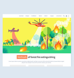 Methods forest fire extinguishing website text vector